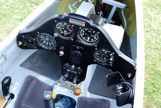 Das Cockpit der ASW 19
